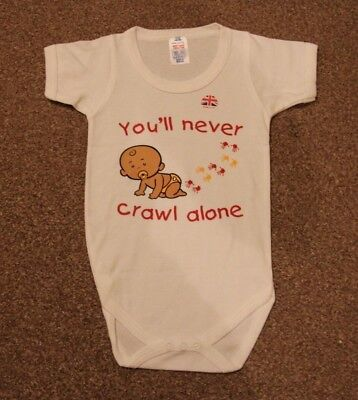 NEW Baby Gro Vest, Liverpool FC, You'll never crawl alone, size 12-18 months.