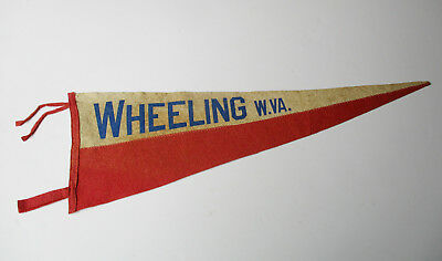 Vintage Wheeling W.VA. West Virginia Pennant