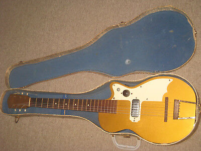 Kay 141 Stratotone Peanut Electric Guitar with Case circa 1954