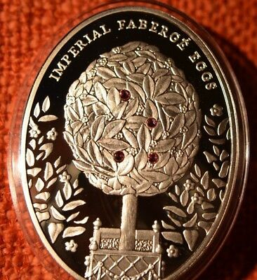 Niue 2012 Imperial Fabergé Eggs - Bay Tree Egg 56,56 gr.Silver Proof Coin