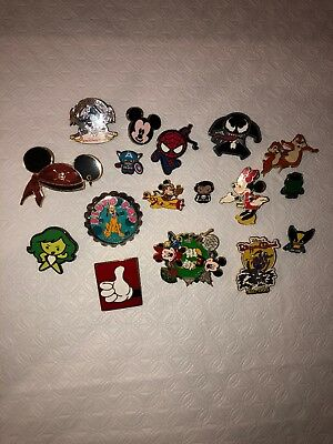 Disney Pin Trading 17 Assorted Pin Lot - No Doubles - Tradable