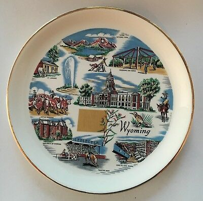 Wyoming Souvenir and collectible plate decorative 7 1/4 inch