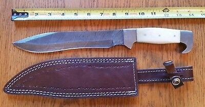 Damascus Steel Handmade Super Quality Knife In Collectors Condition - Great Gift