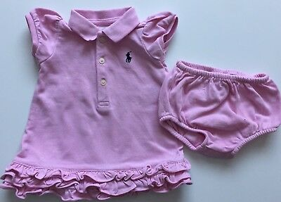 Ralph Lauren Pink Short Sleeve Top Matching Knickers Age 3 M *I'll combine post
