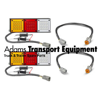 280ARWM + Toyota Hilux Patch Leads Plug & Play LED Autolamps 4WD Tail Light Kit