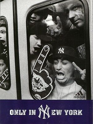 2 Odd 1998 ADIDAS YANKEES Poster Print Ads ONLY IN NEW YORK