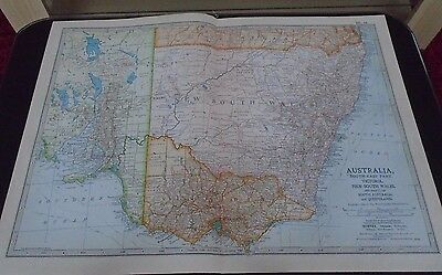 Map 1903 Britannica Australia South-East Part
