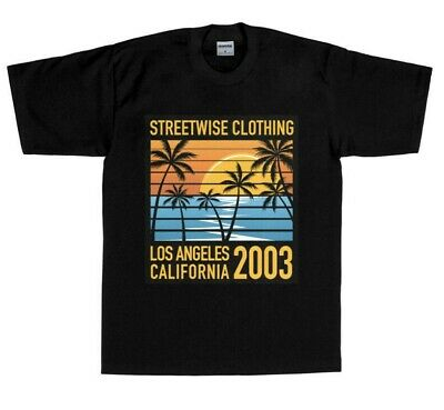 6143a4c0 Streetwise Shades Men's Heavyweight Cotton T-Shirt Cali West Coast Graphic  Tee