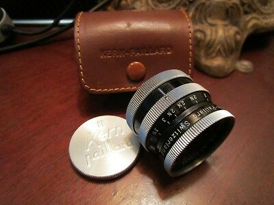 Kern-Paillard Switar AR 25mm f1.4 C mt. lens w/cap, cs, Leather Case Exc Cond