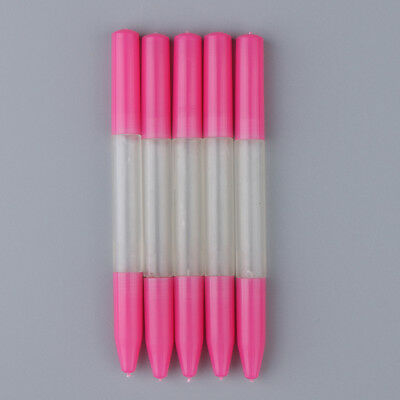 5pcs Precision Pink Oil Pin Pen Needle Watch Clock Repair Tool Oiler Pen