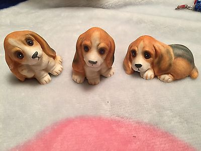 Homco Adorable BEAGLE Puppies Dogs Figurines