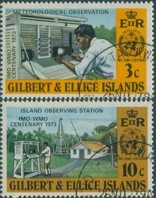 Gilbert Ellice Islands 1973 SG223-224 IMO WMO FU