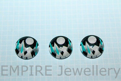 2 x Geometric Mountains 12x12mm Glass Dome Cabochon Cameo Alps Snow Moon