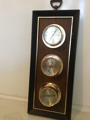 Vintage Weather Station, Thermometer Barometer And Humidity