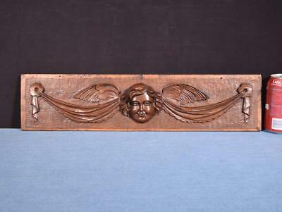 "*21"" French Carved Architectural Panel Solid Walnut Salvage with Face"