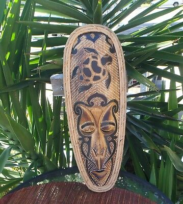 BALINESE HAND MADE & CARVED WOODEN  MASK  50cm H  FREE SHIPPING