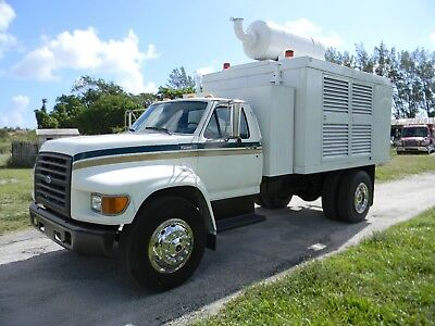 1995 Ford F700 F750 200 Kw - 3 Phase Caterpillar Generator Utility Service Truck