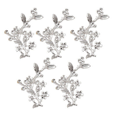 5Pcs Silver Plated Fine Alloy Chic Tree Branch Pendant Charms Headdress Accs