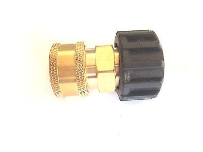 """3/8"""" Female Quick Connect Coupler x M22 Twist Connector for Pressure Washer 14mm"""