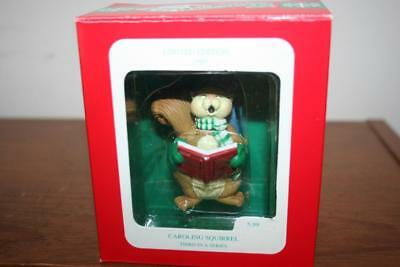 Longs Drug Store 1993 Caroling Squirrel Christmas Ornament 3rd in the Series