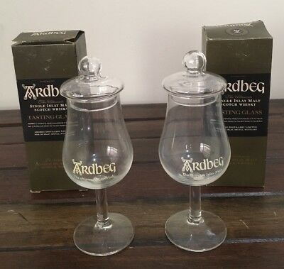Whisky Tasting Glass X 2 Ardbeg Single Islay Malt Whisky Glass  In Original Box