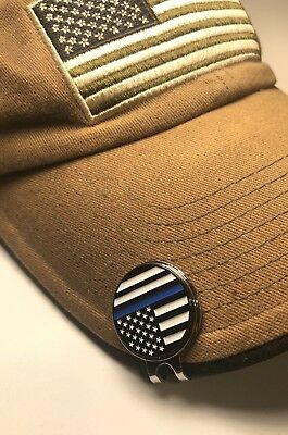 Thin Blue Line Magnetic Golf Hat Clip Ball Marker