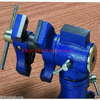 Dual Jaws Spinning Swivel Vise Clamps to Bench 2-1/4 in Opening
