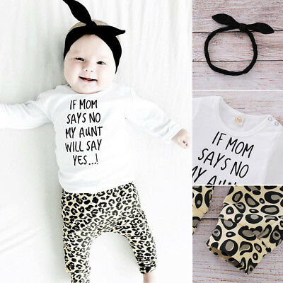 Toddler Baby Kids Girls Clothes Tops Leopard Pants Infant Outfits Sets Tracksuit