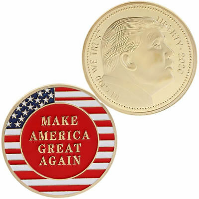 2020 Donald Trump President Oath Commemorative Coin Collection Golden Craft Gift
