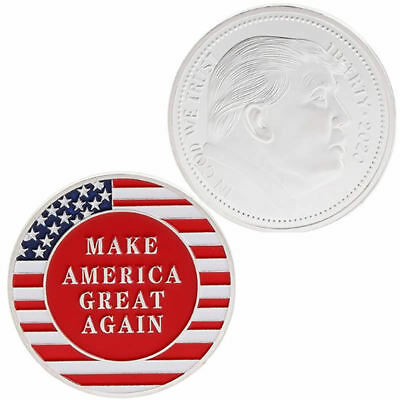 2020 Donald Trump President Oath Commemorative Coin Collection Craft Gift Silver