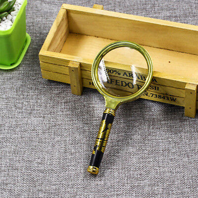 Delicate Wood Handle Magnifying Glass Portable Magnifier For Paper Book Reading