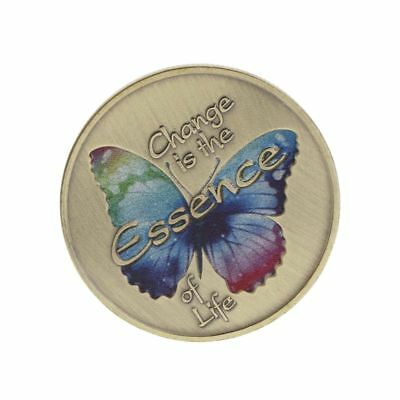 Colorful Butterfly Commemorative Coin Insect Souvenir Collection Arts Craft Gift