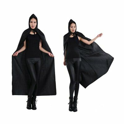 Adult Hooded Robe Cloak Cape Party Halloween Vampire Cosplay Costume