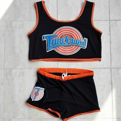 Women Space Jam Tune Squad LOLA Sport Jersey Shorts White & Black All Stitched