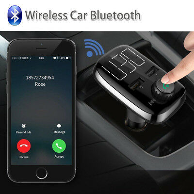 Handsfree Wireless Bluetooth Car Kit FM Transmitter Radio MP3 Player USB WIFI