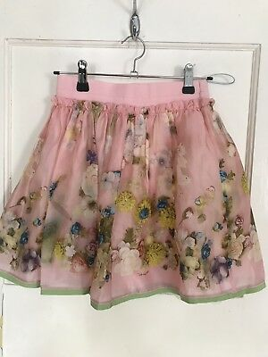 Childs Skirt Age 10 Pink Flower Print