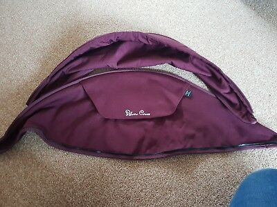 Silver Cross Surf Aubergine Hood Without Metal Frame