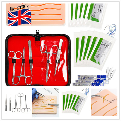 Suture Practice Set with Sutures Tool Kit Wound Closure Medical Doctor Students
