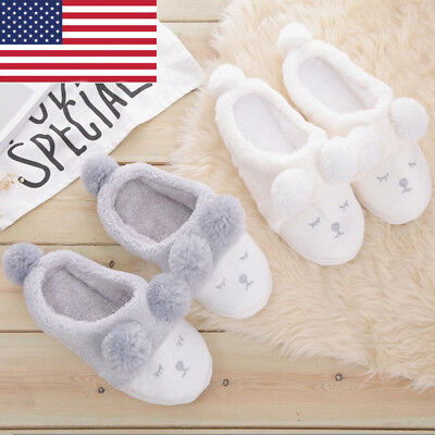 Winter Men Women Soft Non-slip Slippers House Home Anti-slip Plush Shoes Warm
