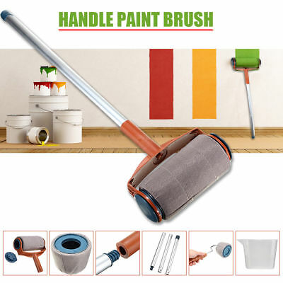 6pcs Set Paint Pro Roller Brush Set Wall Painting Edger Handle Tool Kit Diy Home