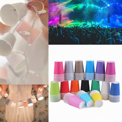 14/30/50 Paper Cups 7oz Solid Disposable Cups Kids DIY Creating Party / Catering