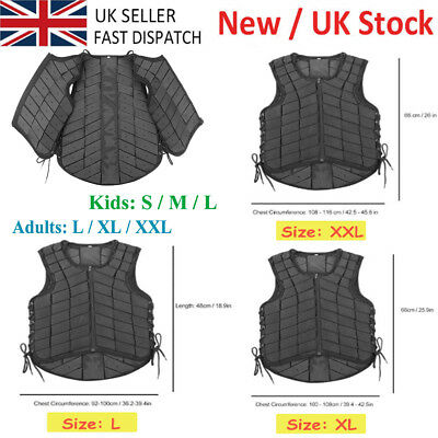 Adults/Kids S - XXL Horse Riding Equestrian Vest Protective Guard Body Protector