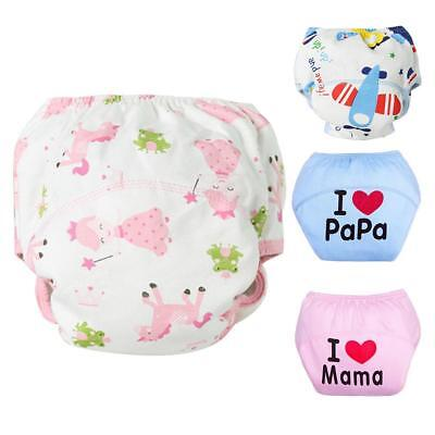 Baby Cloth Diaper Underwear Infants Reusable Nappies Washable Training Pants SS