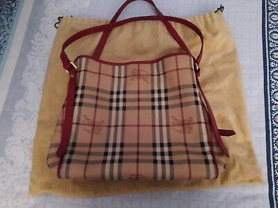 7a0d13e4c040 BURBERRY Haymarket Check Small Magenta Canterbury Tote Bag - Great  Condition!