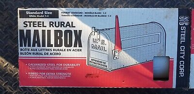 Steel City Smooth Steel Rural Mailbox Model 1-C Made in USA New in Box