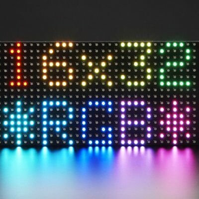 Adafruit 16x32 RGB Led Matrix Panel, 512 Light Leds , 6mm Grid Dimension, 420