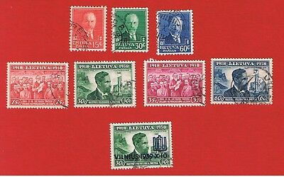 Lithuania #283-285  #306-309  VF used  Different Scenes  Free S/H