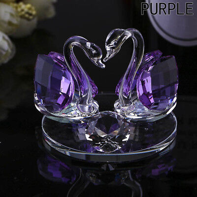 Crystal Swan Wedding Decor Paperweight Figurine Gift Crafts Home Decor New UK