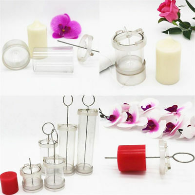 Transparent Round DIY Candle Mold Flat Top Candle Making Model  for Candle Craft