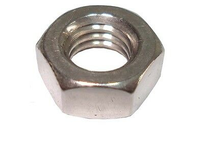 x10  1/2 BSF Hexagon Hex Full Nuts A2 Stainless Steel (Pack of 10)